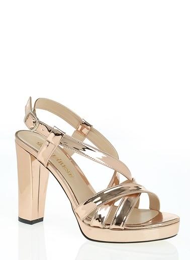 D by Divarese Platform Topuklu Ayakkabı Bakır